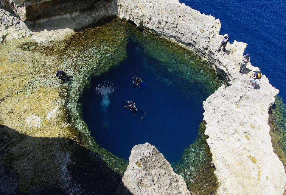Blue Hole in Malta